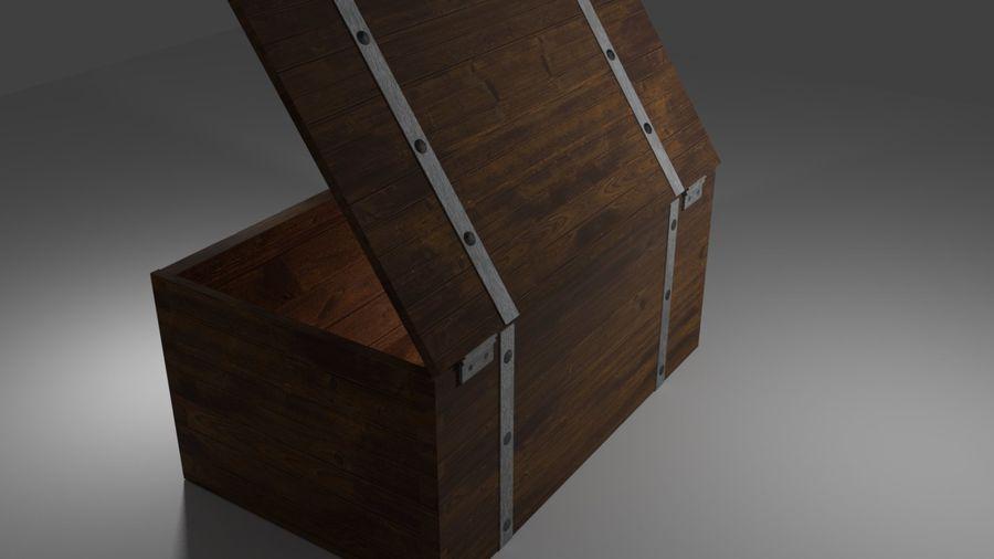 Stara skrzynia royalty-free 3d model - Preview no. 7