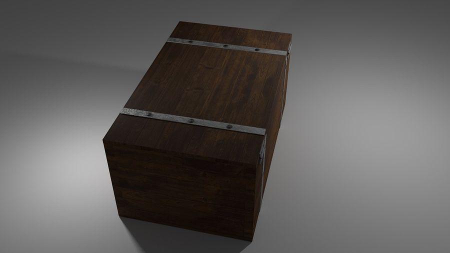 Stara skrzynia royalty-free 3d model - Preview no. 3