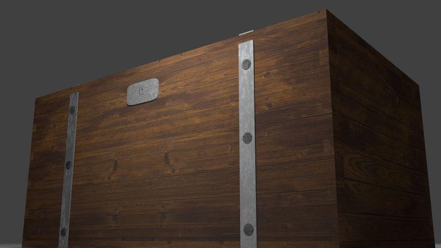 Stara skrzynia royalty-free 3d model - Preview no. 4