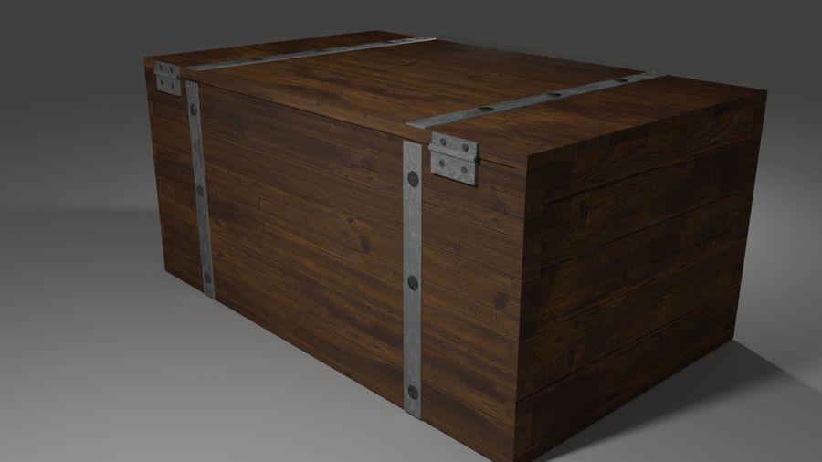 Stara skrzynia royalty-free 3d model - Preview no. 2