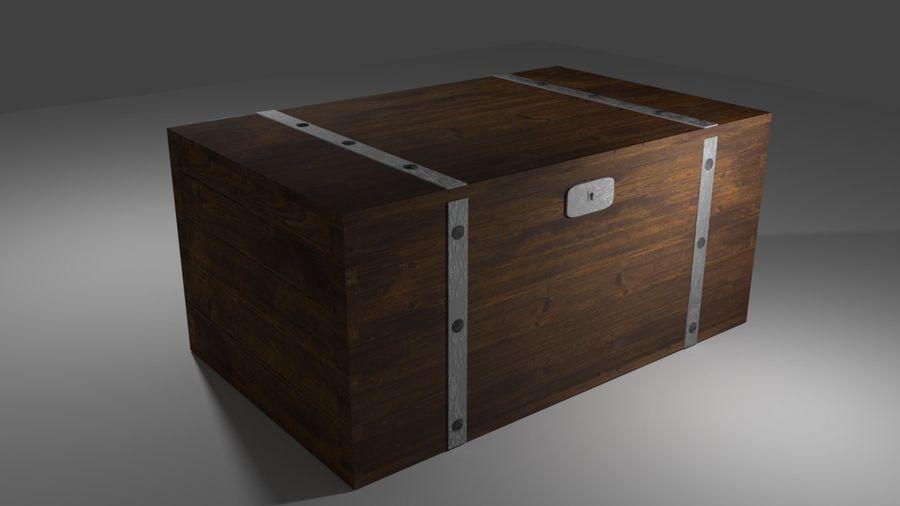 Stara skrzynia royalty-free 3d model - Preview no. 1
