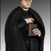 Priest Cartoon 3d model