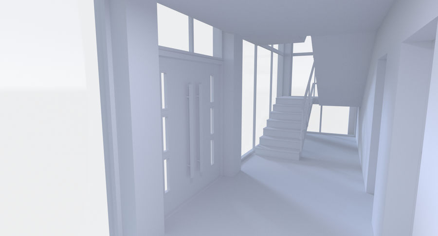 Apartment building five with interior royalty-free 3d model - Preview no. 11