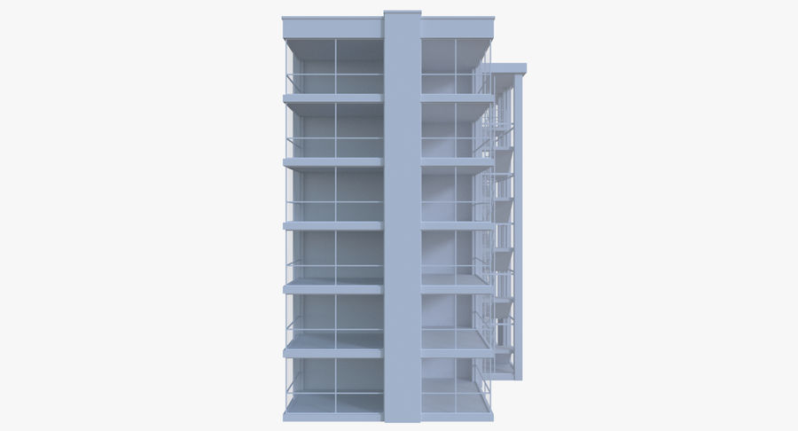 Apartment building five with interior royalty-free 3d model - Preview no. 3