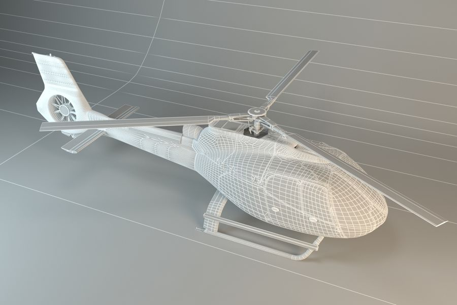 Helicopter royalty-free 3d model - Preview no. 5