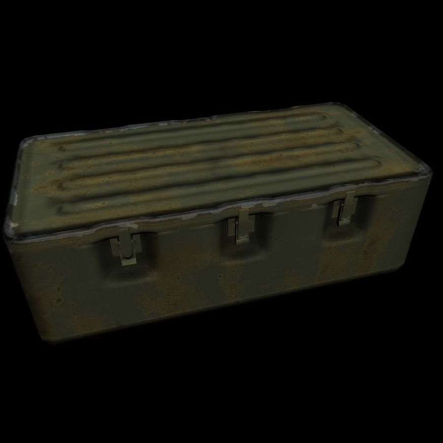 Military Crate royalty-free 3d model - Preview no. 11