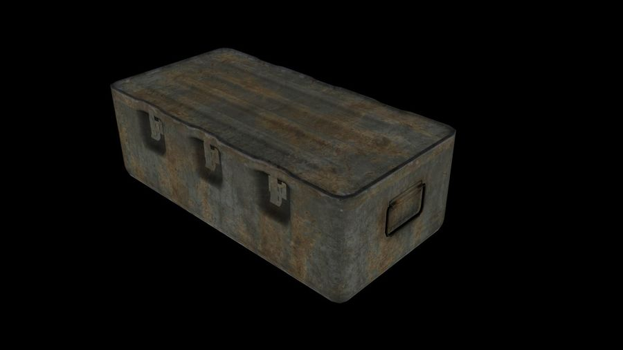 Military Crate royalty-free 3d model - Preview no. 1
