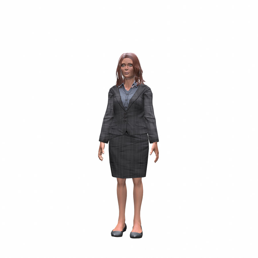 young lawyer woman royalty-free 3d model - Preview no. 2
