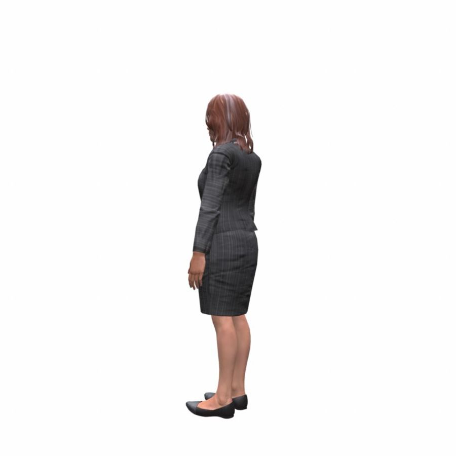young lawyer woman royalty-free 3d model - Preview no. 3