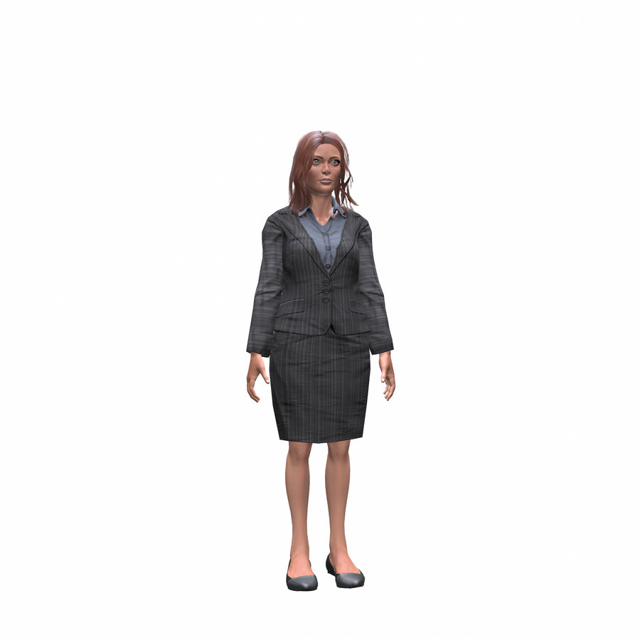 young lawyer woman royalty-free 3d model - Preview no. 7