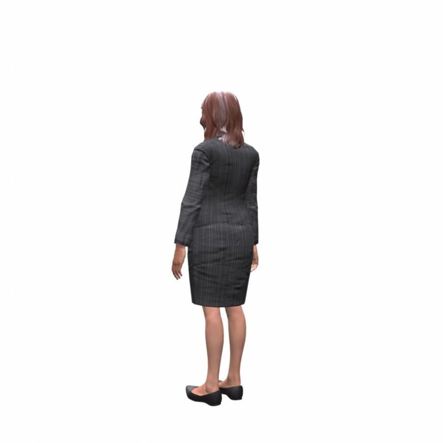 young lawyer woman royalty-free 3d model - Preview no. 4