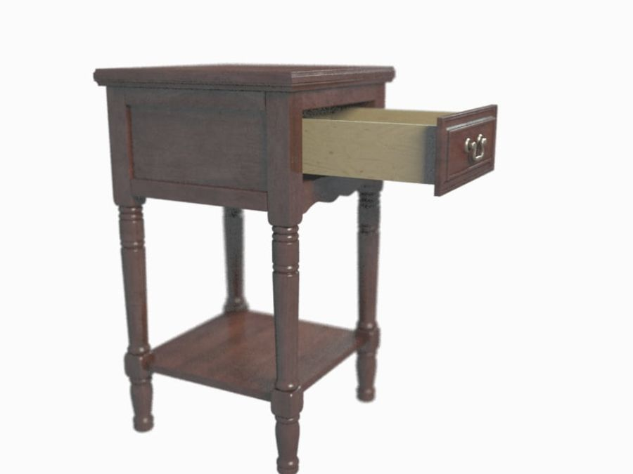 Drawer Nightstand royalty-free 3d model - Preview no. 6