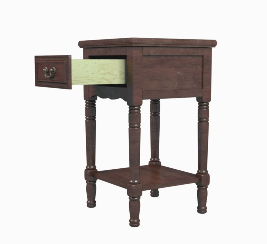 Drawer Nightstand royalty-free 3d model - Preview no. 1