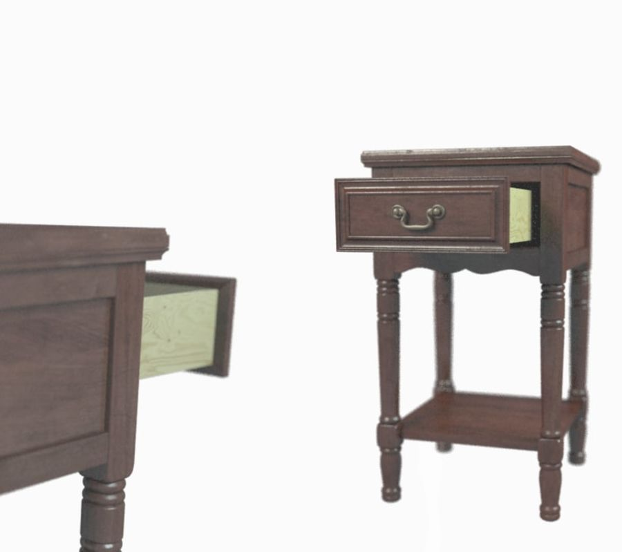 Drawer Nightstand royalty-free 3d model - Preview no. 4