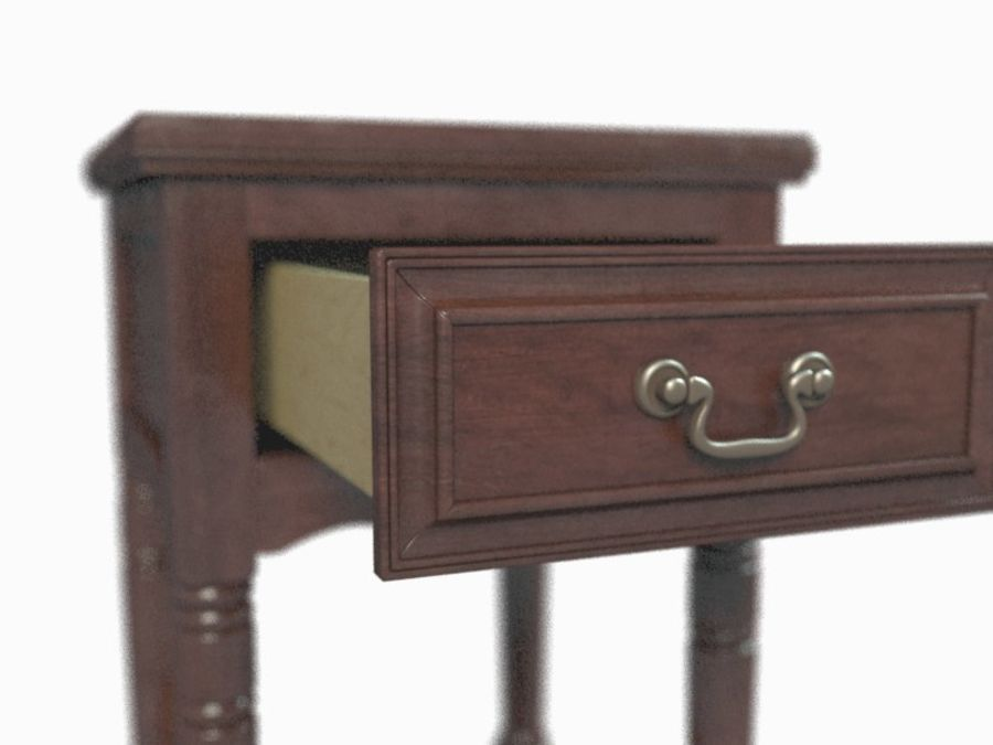Drawer Nightstand royalty-free 3d model - Preview no. 5