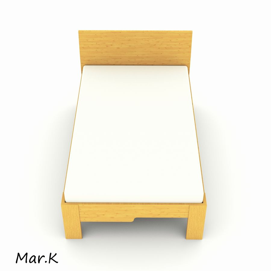 Bed 120/200 royalty-free 3d model - Preview no. 5