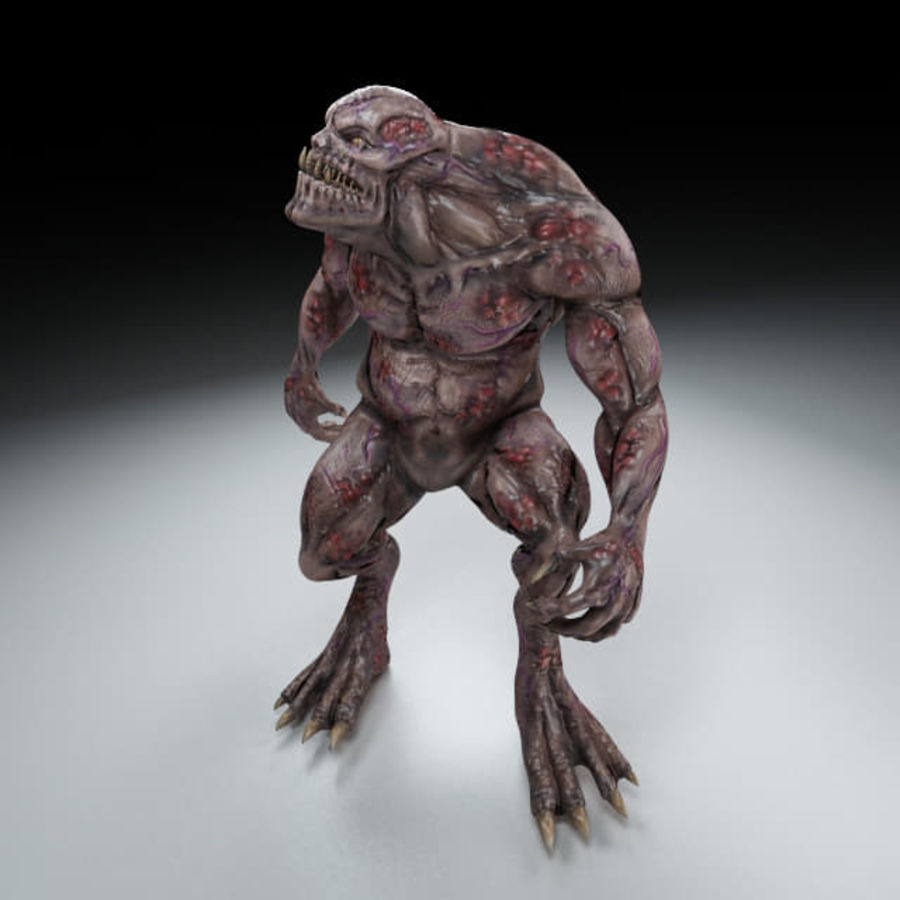 Troll monster royalty-free 3d model - Preview no. 6