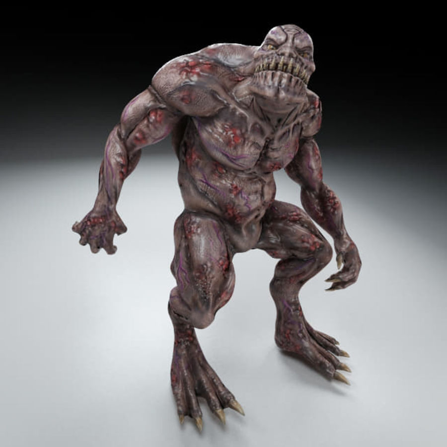 Troll monster royalty-free 3d model - Preview no. 2