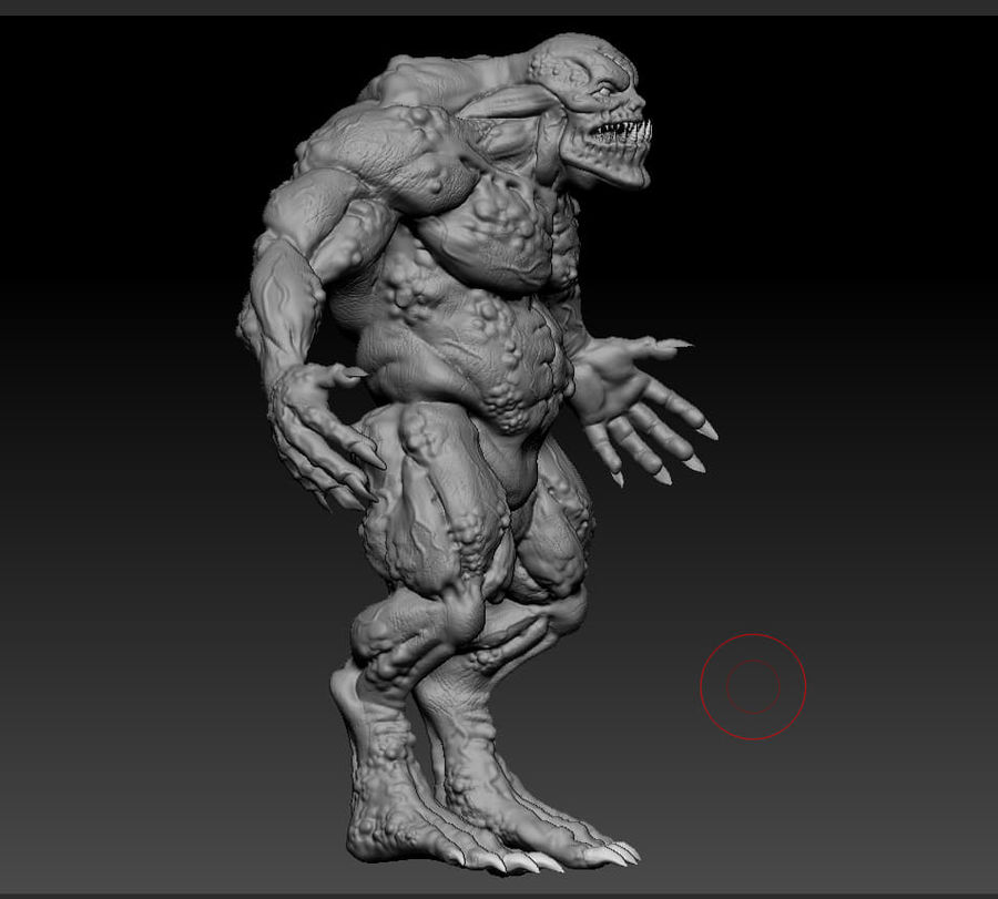 Troll monster royalty-free 3d model - Preview no. 17