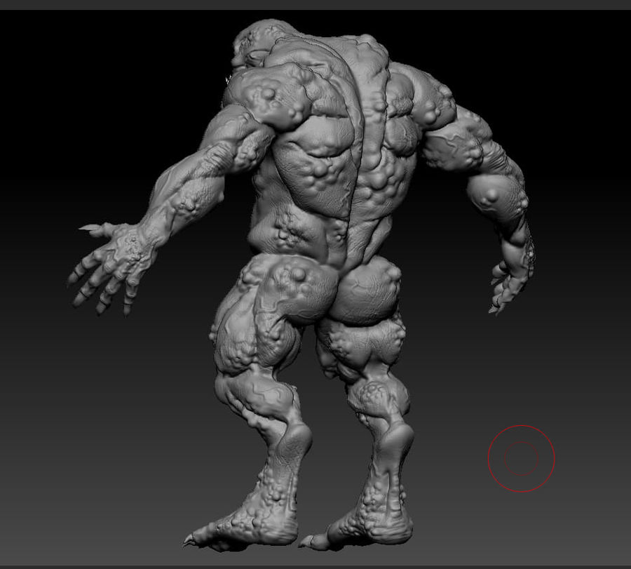 Troll monster royalty-free 3d model - Preview no. 15