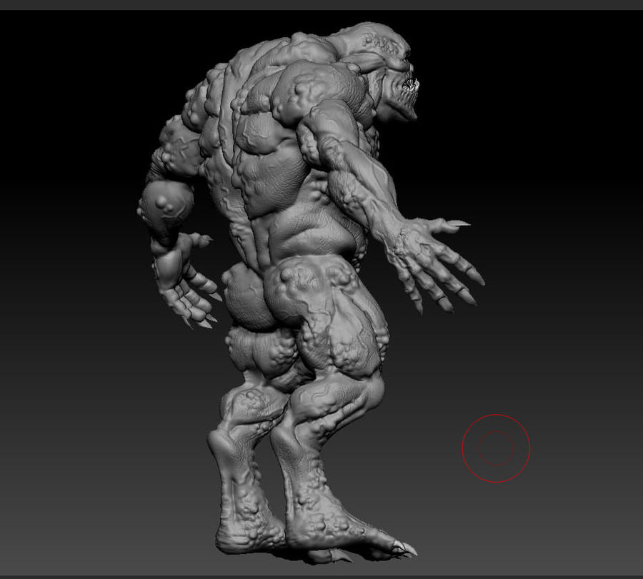 Troll monster royalty-free 3d model - Preview no. 16
