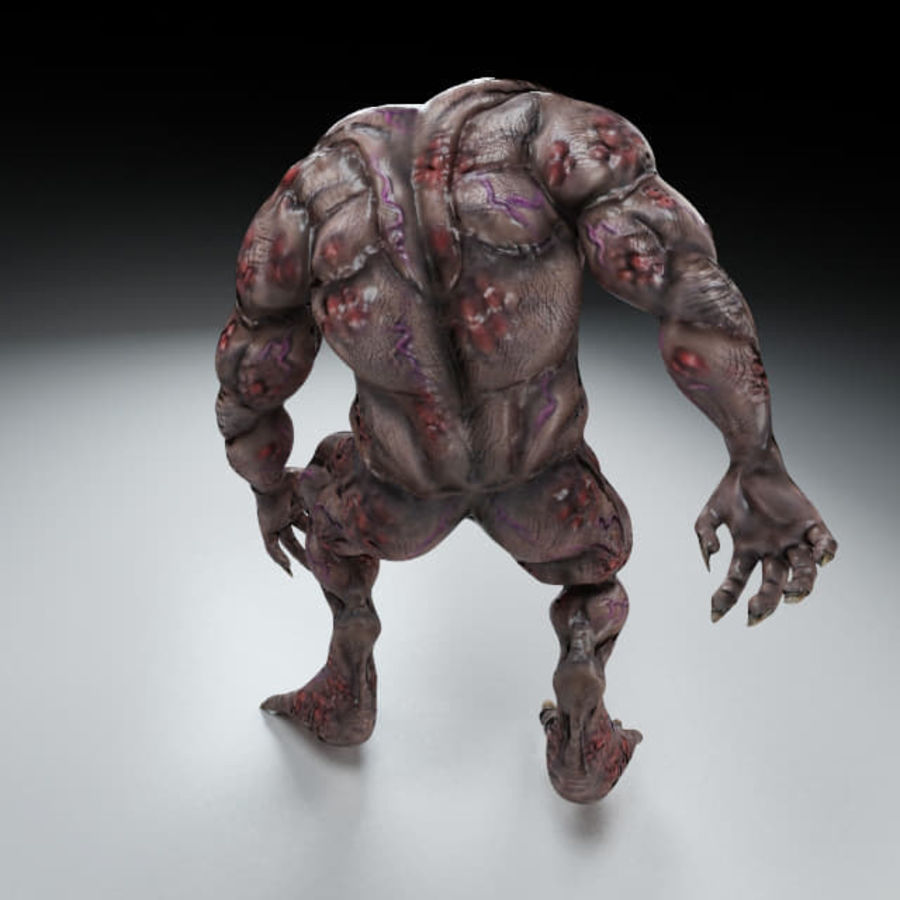 Troll monster royalty-free 3d model - Preview no. 4