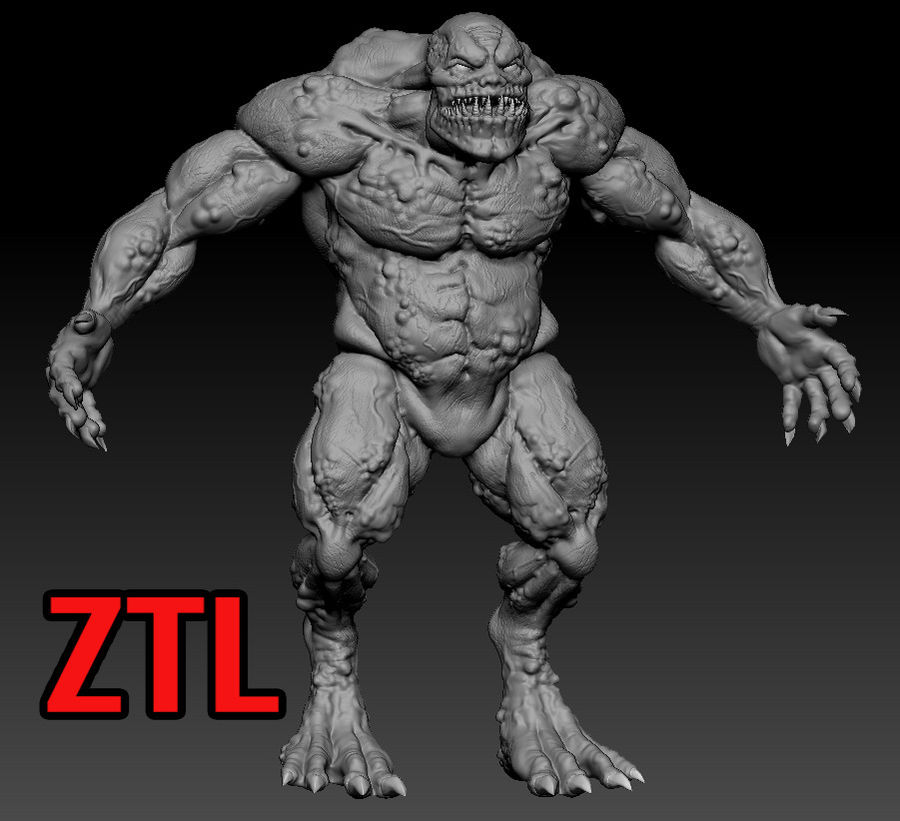Troll monster royalty-free 3d model - Preview no. 7