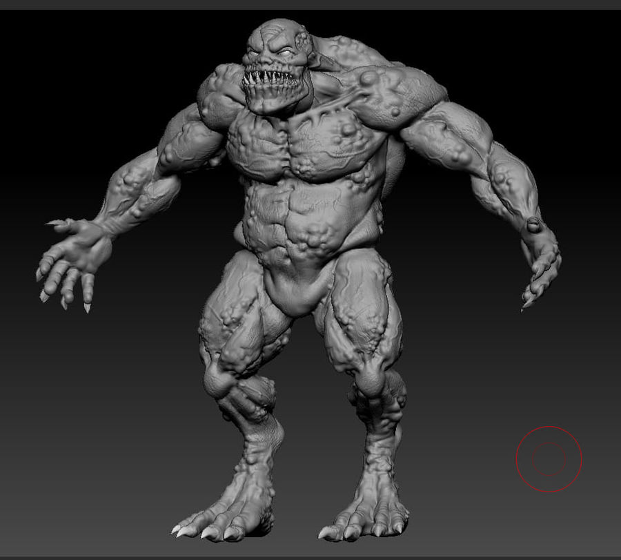 Troll monster royalty-free 3d model - Preview no. 13