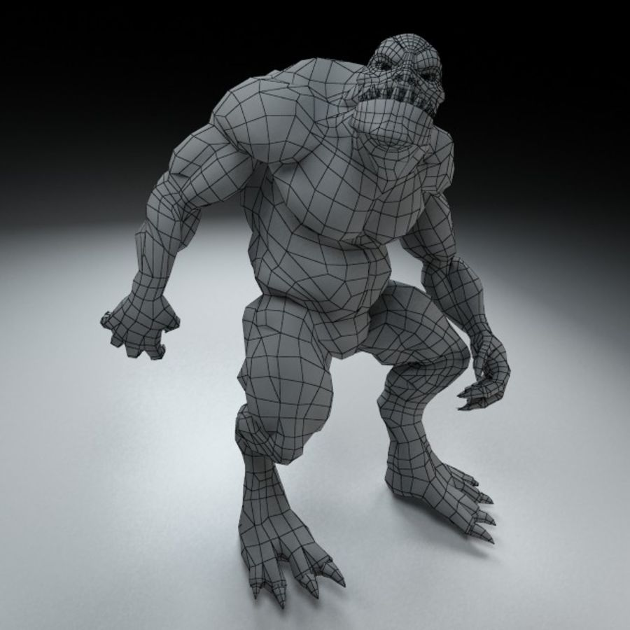Troll monster royalty-free 3d model - Preview no. 8