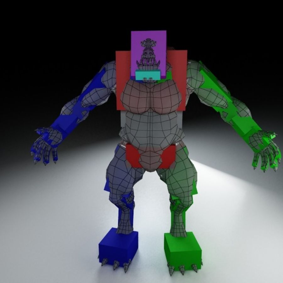Troll monster royalty-free 3d model - Preview no. 10