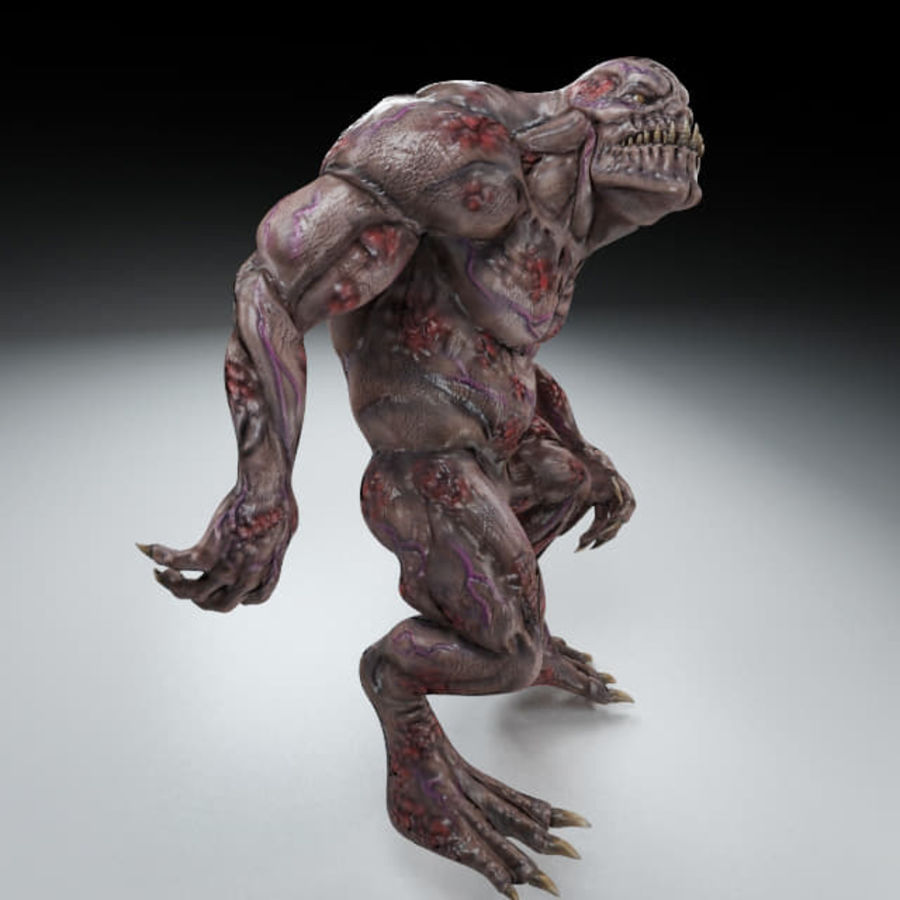 Troll monster royalty-free 3d model - Preview no. 3