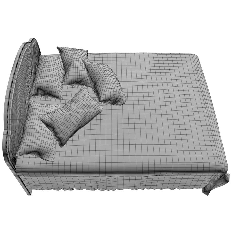 Bed royalty-free 3d model - Preview no. 10