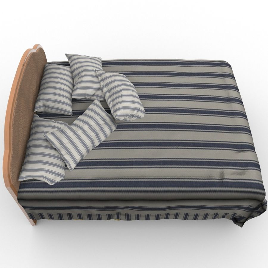 Bed royalty-free 3d model - Preview no. 9