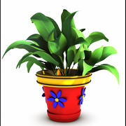 Plant Cartoon 3d model