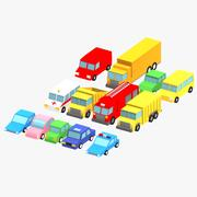 Pack voiture basse poly 3d model
