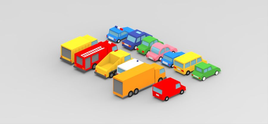 Pack de carro de baixo poli royalty-free 3d model - Preview no. 5