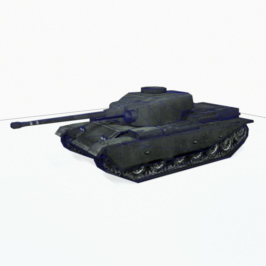 Centurion tank royalty-free 3d model - Preview no. 10