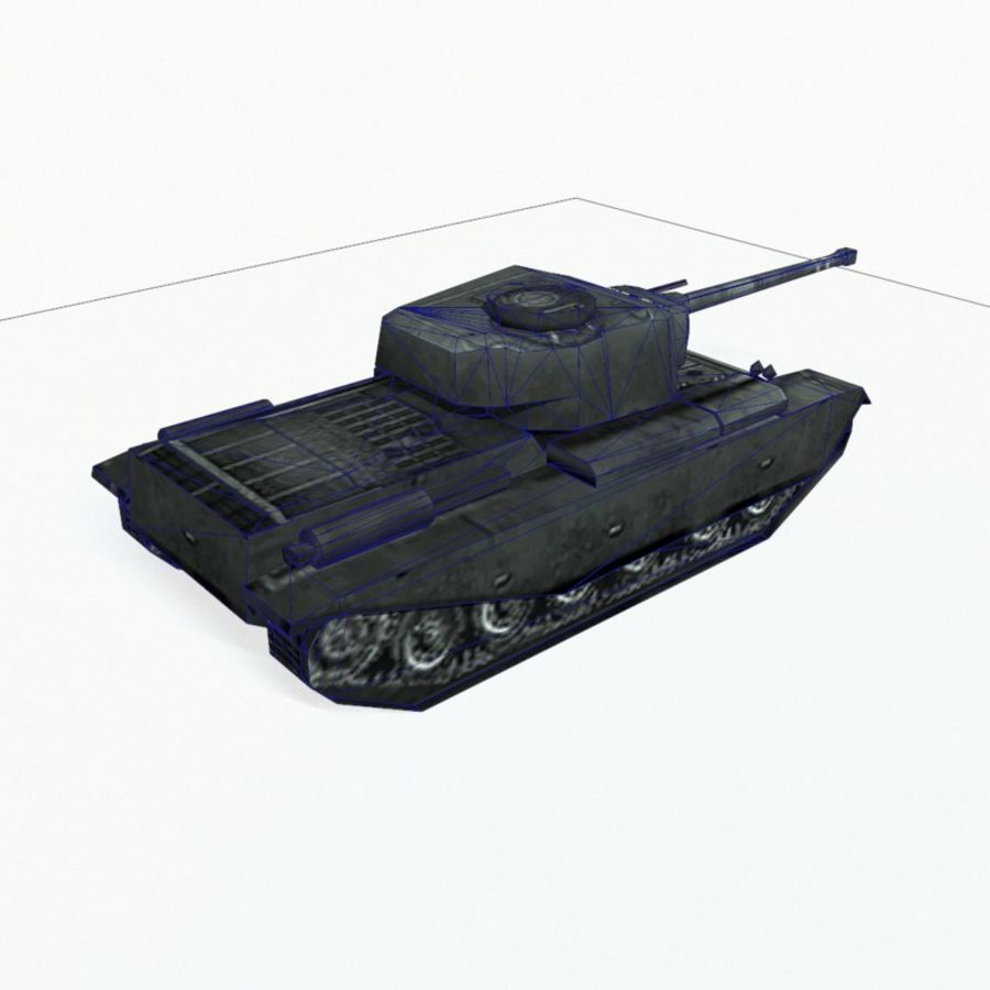 Centurion tank royalty-free 3d model - Preview no. 12