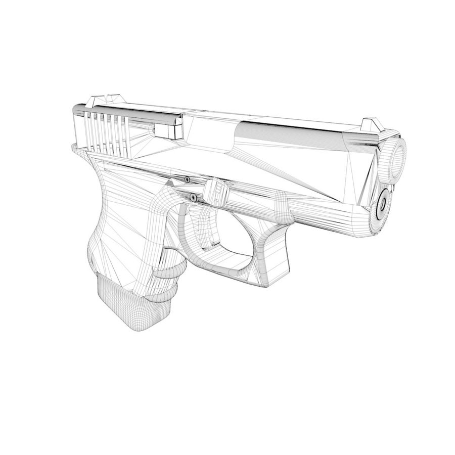 Glock 27 royalty-free 3d model - Preview no. 9
