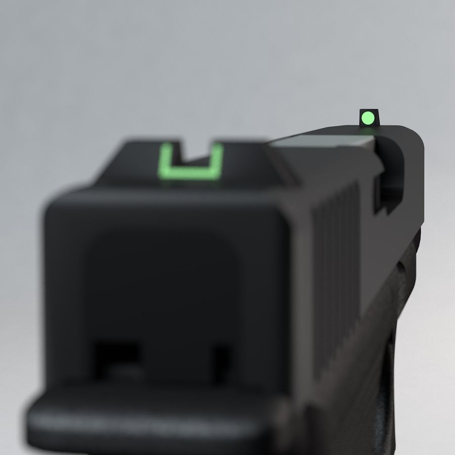 Glock 27 royalty-free 3d model - Preview no. 7
