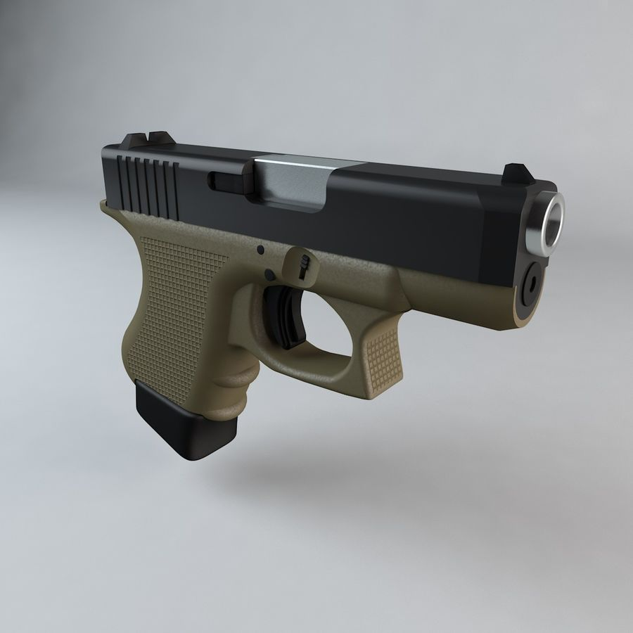 Glock 27 royalty-free 3d model - Preview no. 3