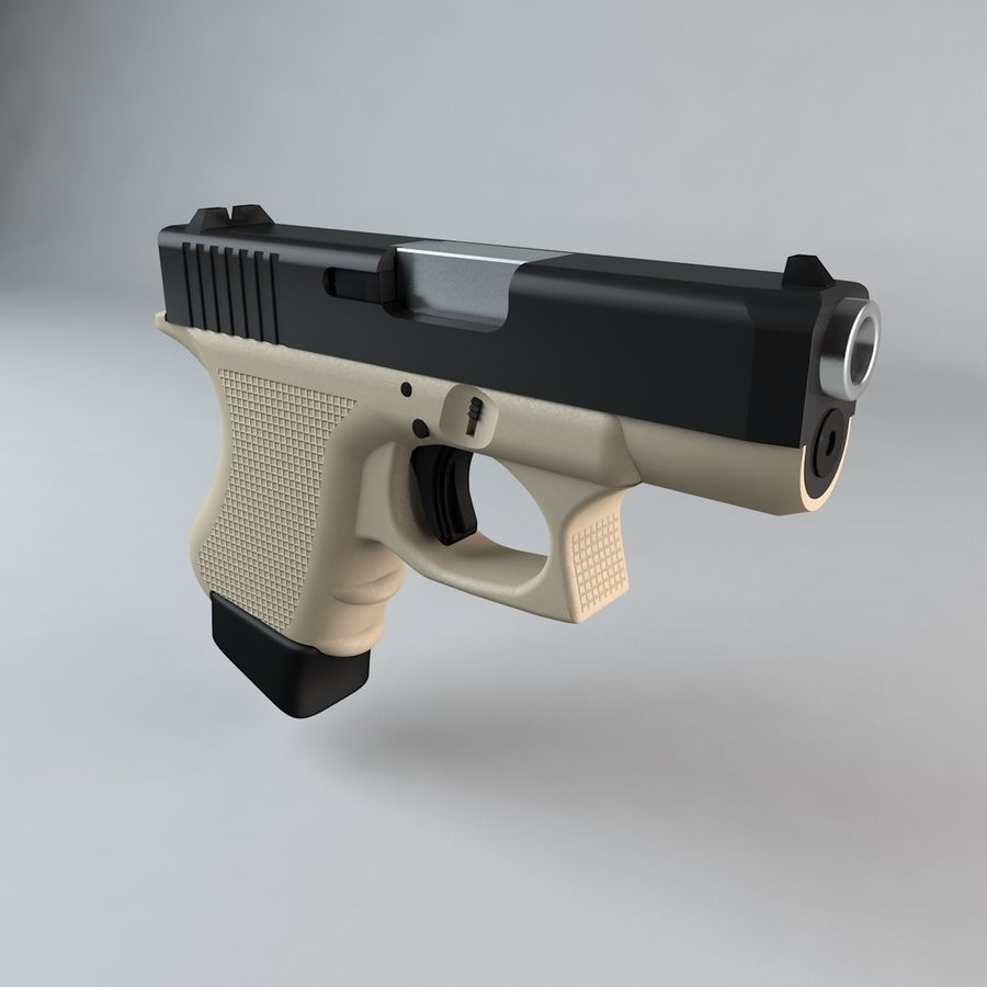 Glock 27 royalty-free 3d model - Preview no. 2