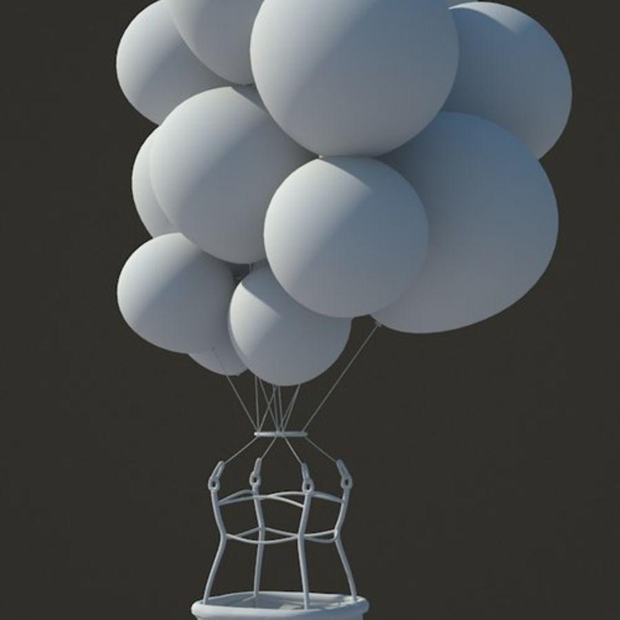 Santa Claus Balloon royalty-free 3d model - Preview no. 3