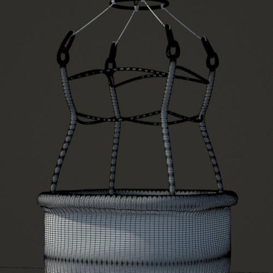 Santa Claus Balloon royalty-free 3d model - Preview no. 7