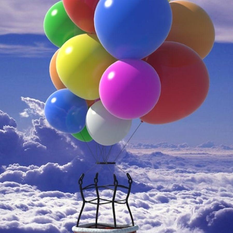 Santa Claus Balloon royalty-free 3d model - Preview no. 1