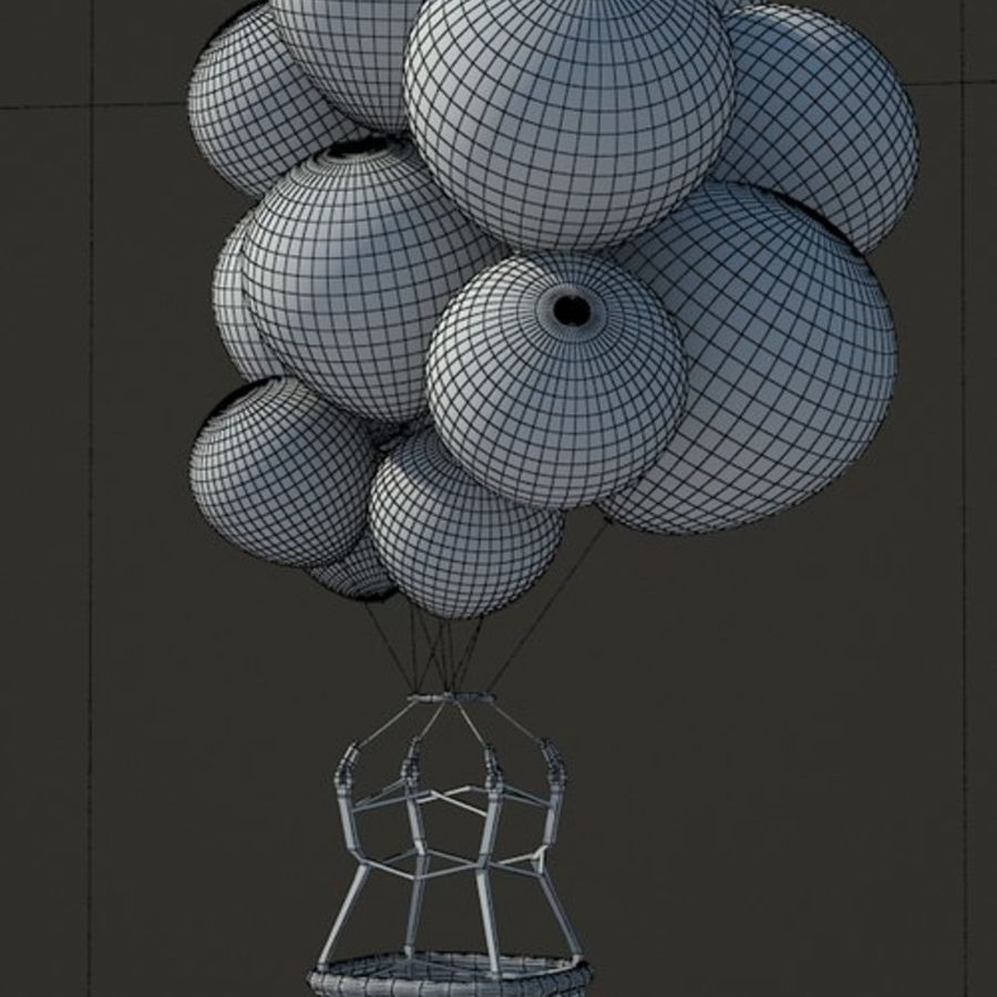 Santa Claus Balloon royalty-free 3d model - Preview no. 4