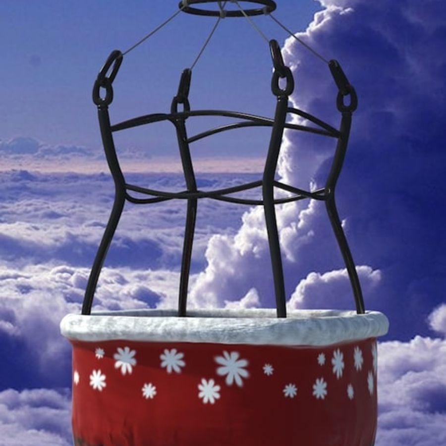 Santa Claus Balloon royalty-free 3d model - Preview no. 5