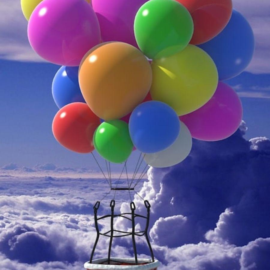 Santa Claus Balloon royalty-free 3d model - Preview no. 2