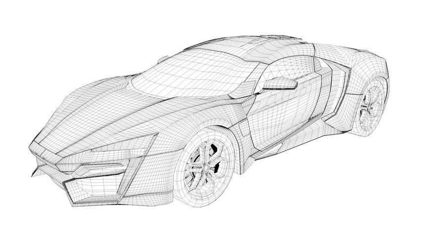 Hypersport de Lykan royalty-free 3d model - Preview no. 4