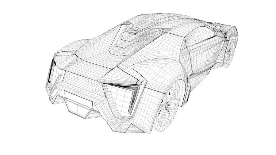Hypersport de Lykan royalty-free 3d model - Preview no. 6